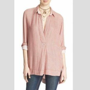 FREE PEOPLE Striped On The Road Top in Peach-XS,S